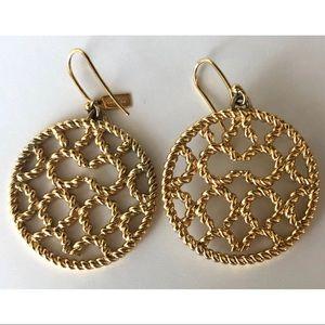Coach- Braided Gold Charm Earrings